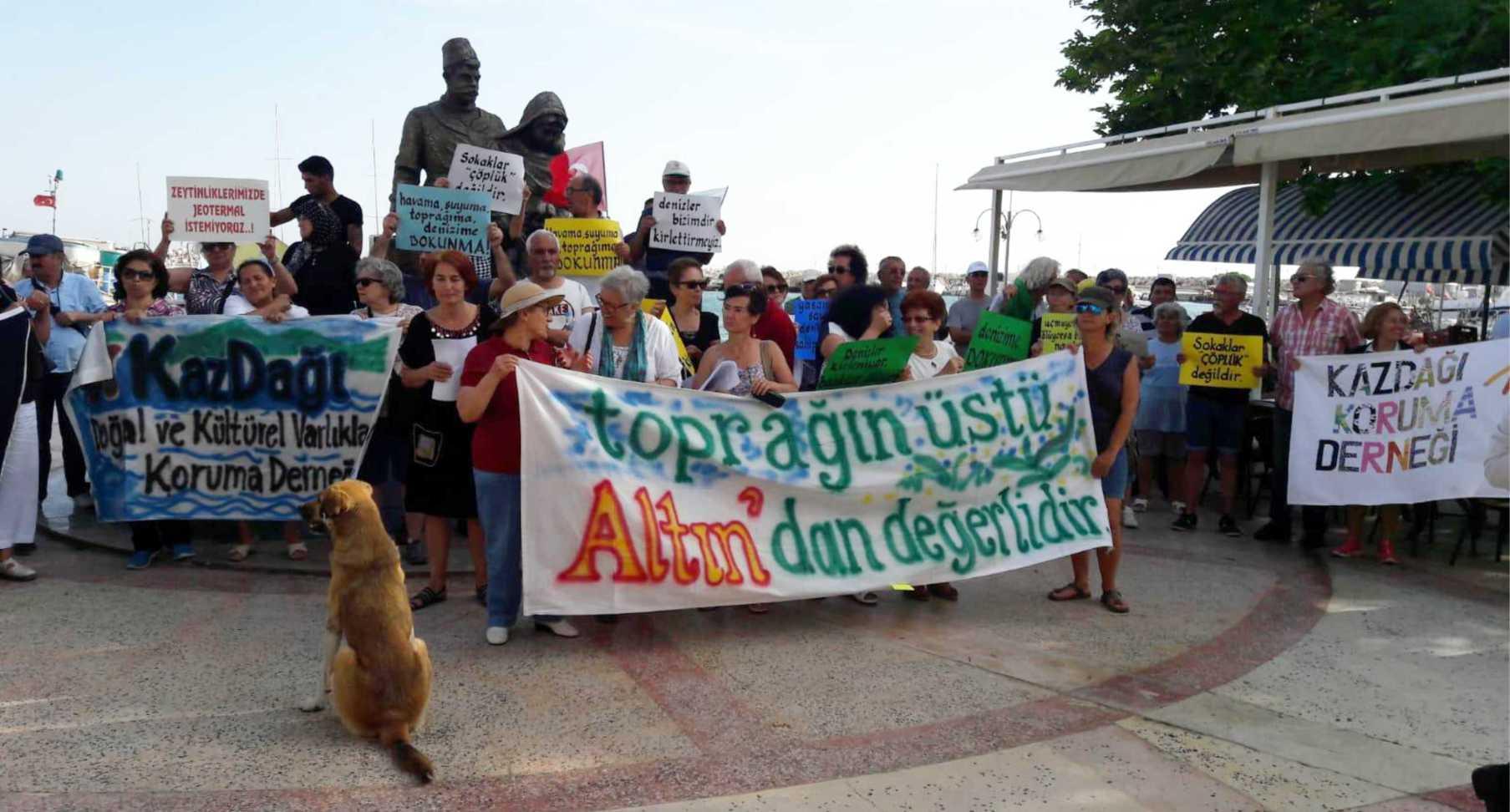 BASKİ'NİN DERİN DENİZ DEŞARJINA ÇEVRECİ PROTESTO