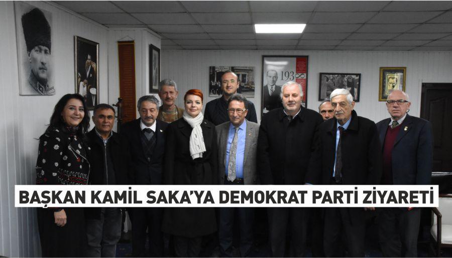 Başkan Kamil Saka'ya Demokrat Parti ziyareti