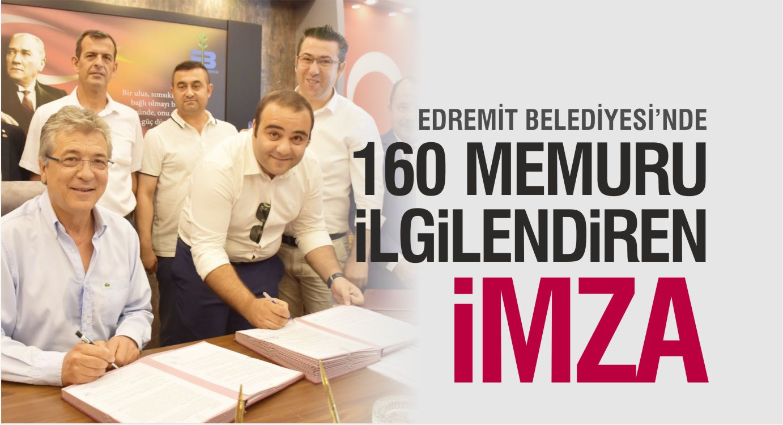 EDREMİT BELEDİYESİ'NDE 160 MEMURU İLGİLENDİREN KARAR