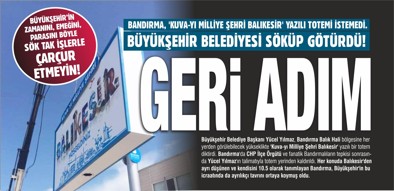 BANDIRMALILAR TEPKİ GÖSTERDİ, YÜCEL YILMAZ GERİ ADIM ATTI!