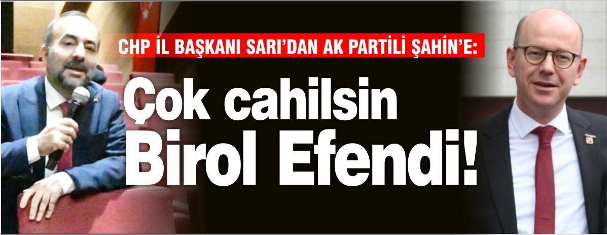 """SERKAN SARI'DAN BİROL ŞAHİN'E: """"ÇOK CAHİLSİN BİROL EFENDİ"""""""