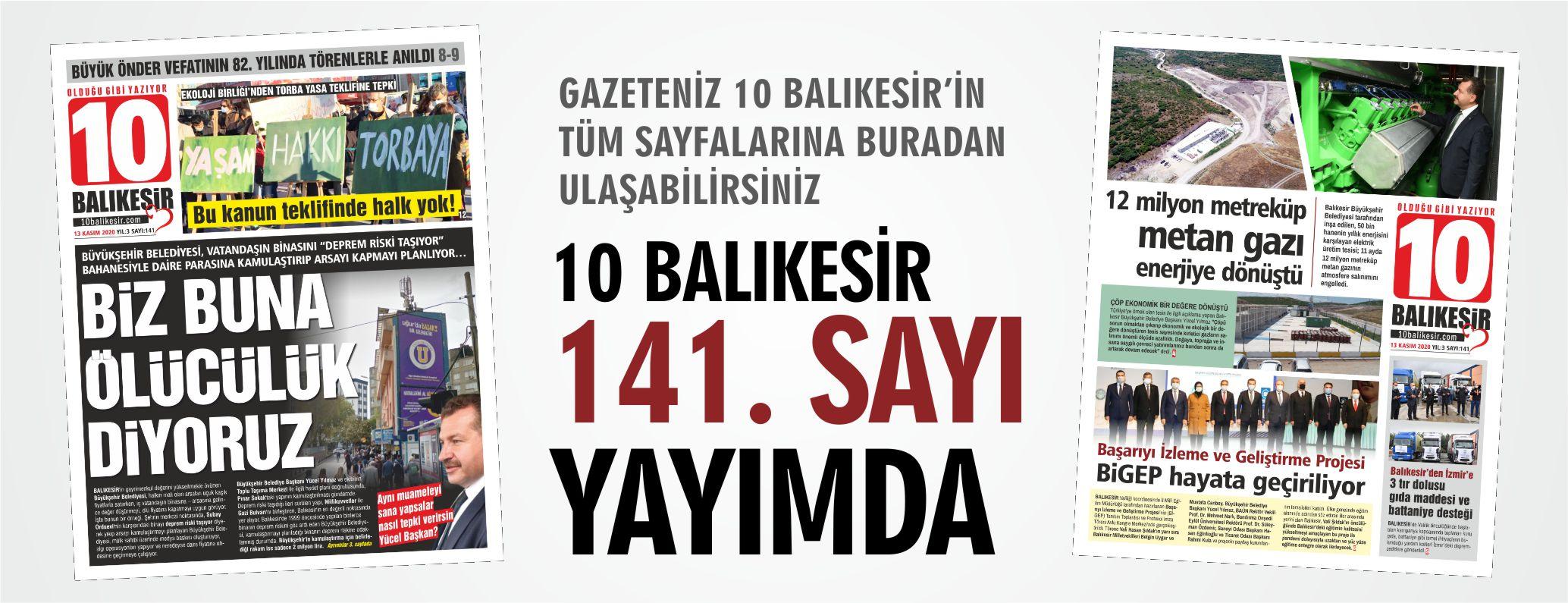 10 BALIKESİR 141. SAYI YAYINDA