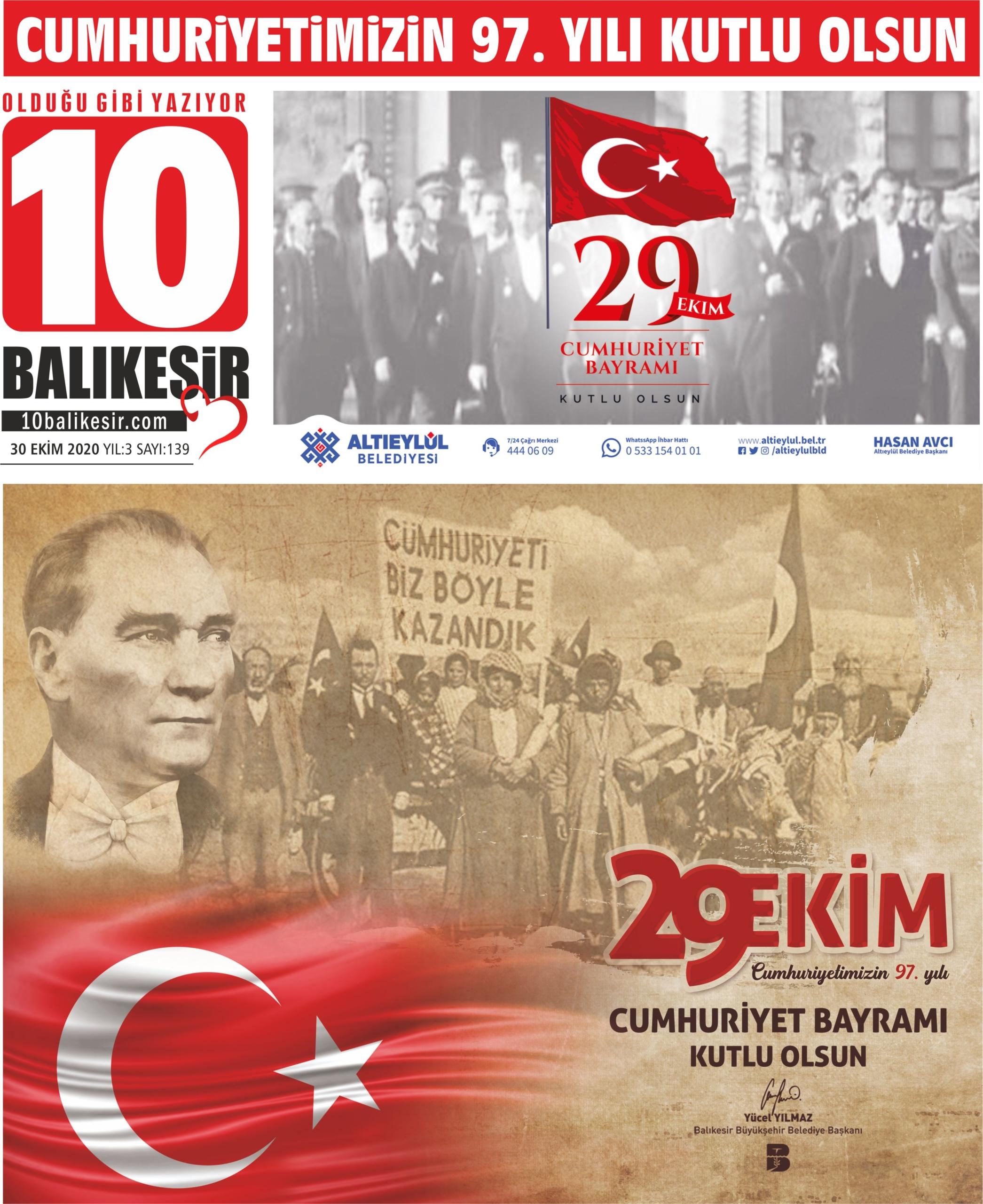 30 EKİM 2020 – 139. SAYI