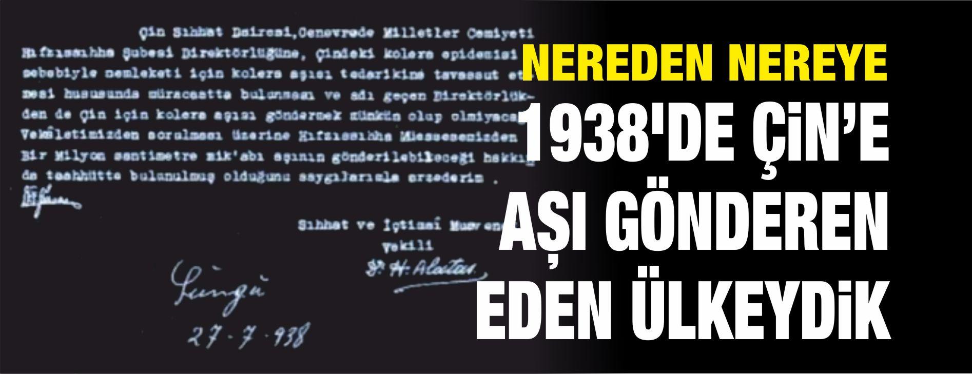 1938'DE AŞI GÖNDERDİĞİMİZ ÜLKEDEN 2020'DE AŞI İTHAL EDİYORUZ!