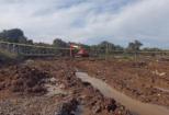 Ayvalık ta tarihi kalıntıya rastlanan arazide kurtarma kazısı başlatıldı