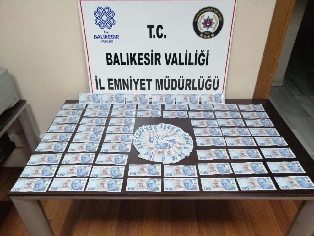 BALIKESİR'DE SAHTE PARA OPERASYONU