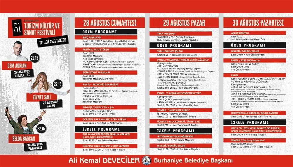 BURHANİYE'DE ÖREN TURİZM KÜLTÜR VE SANAT FESTİVALİ BAŞLIYOR